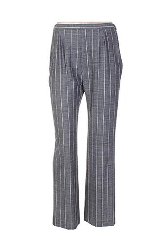 mary west pantalons femme de couleur gris