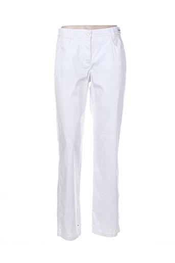 Pantalon casual blanc DELMOD pour femme