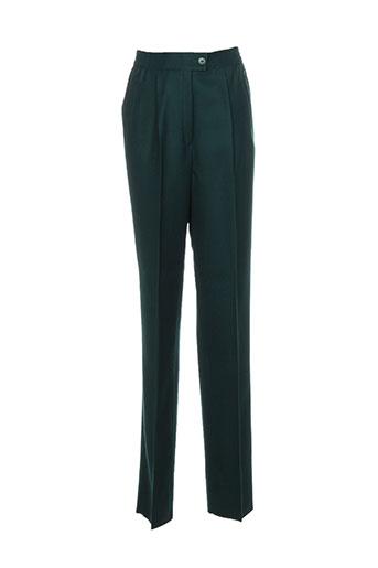 lucia pantalons femme de couleur vert