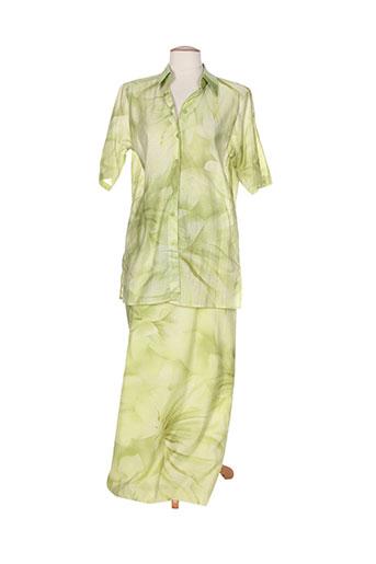jean claire ensembles femme de couleur vert