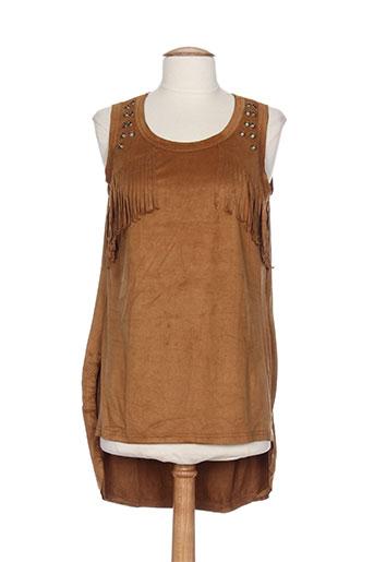 cherry chemises femme de couleur marron