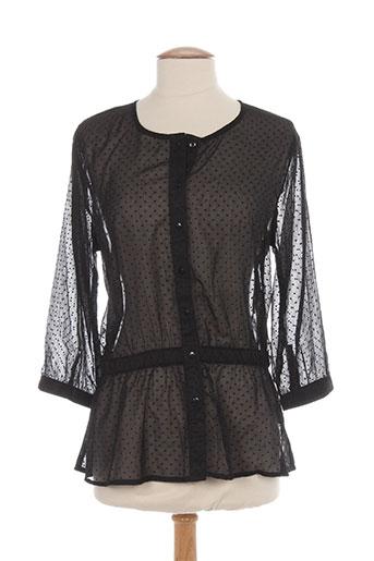 ichi chemises femme de couleur noir