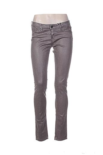 cimarron jeans femme de couleur marron