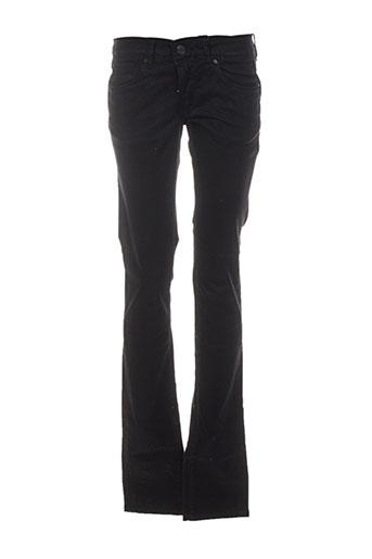 cimarron pantalons femme de couleur noir
