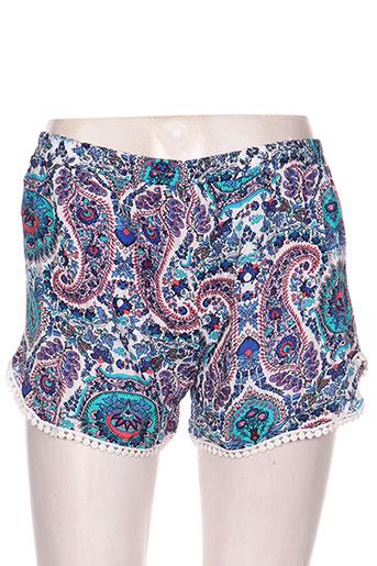 ema blue's shorts / bermudas femme de couleur bleu
