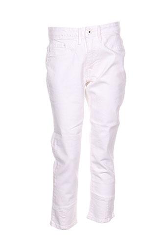 ichi pantacourts femme de couleur blanc