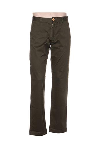 palam pantalons homme de couleur vert