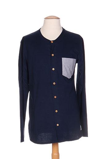 palam chemises homme de couleur bleu