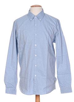 Chemise manches longues bleu PALAM pour homme