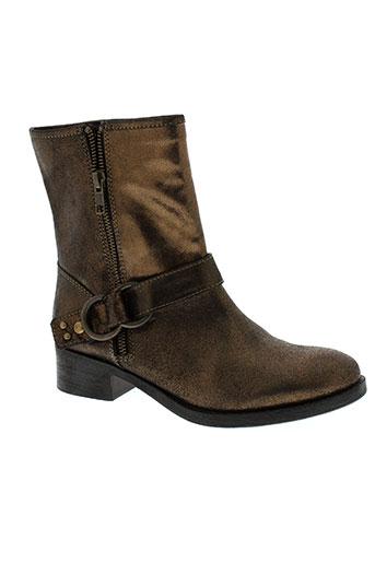 lundi bleu chaussures femme de couleur marron