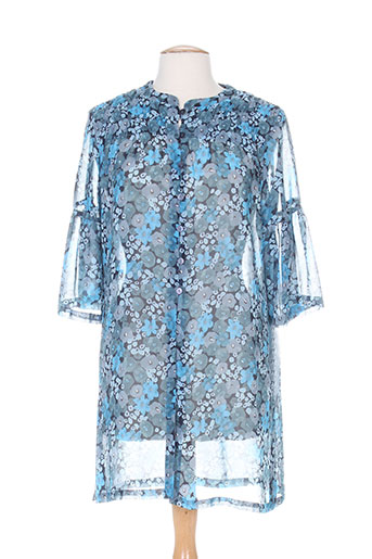 villa bleue tuniques femme de couleur bleu