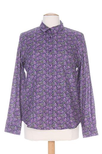 armor lux chemises femme de couleur violet