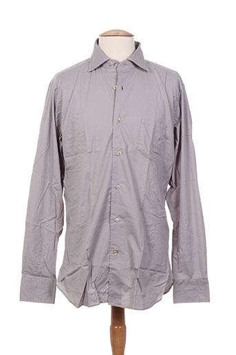 caliban chemises homme de couleur gris