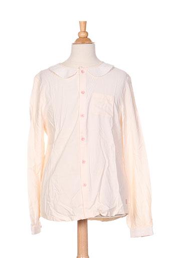 billieblush chemises fille de couleur beige
