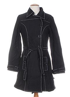 Manteau long noir BAMBOO'S pour femme