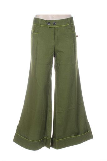 bamboo's pantalons femme de couleur vert