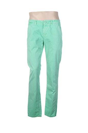 redskins pantalons homme de couleur vert