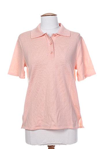 henry & juliette t-shirts femme de couleur orange