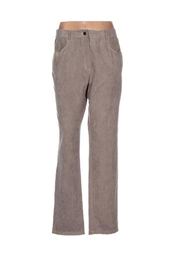 pause cafe pantalons femme de couleur beige