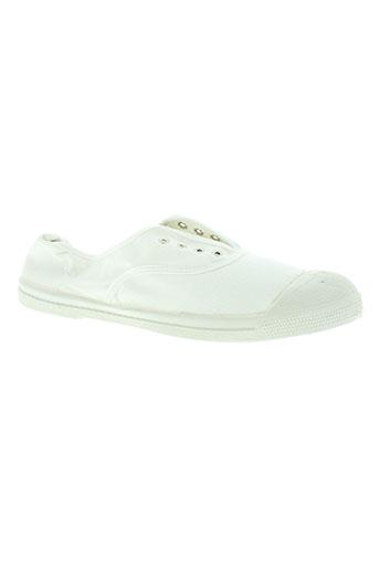 bensimon chaussures femme de couleur blanc
