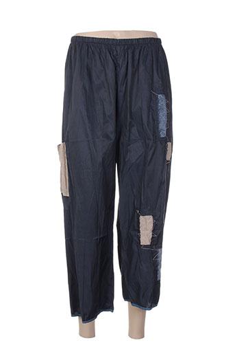 Pantalon 7/8 bleu DESOULLOUNGE pour femme