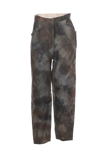 bellocoton pantalons femme de couleur vert