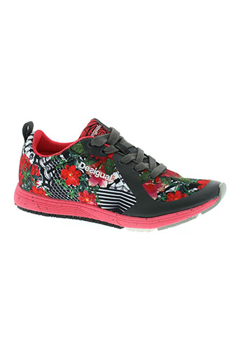 desigual chaussures femme de couleur rouge