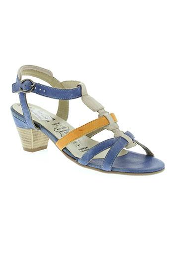 metayer chaussures femme de couleur bleu