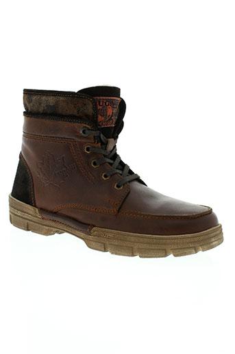 bugatti chaussures homme de couleur marron
