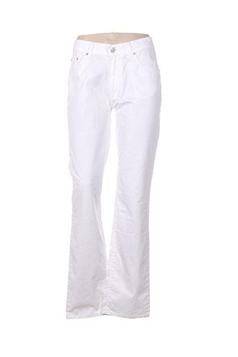 full blue jeans femme de couleur blanc