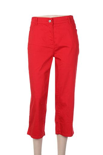 lebek pantacourts femme de couleur rouge