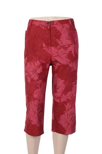 chrismas's pantacourts femme de couleur rouge