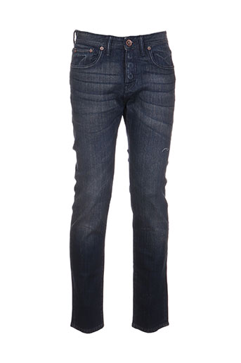 pearly king jeans homme de couleur bleu