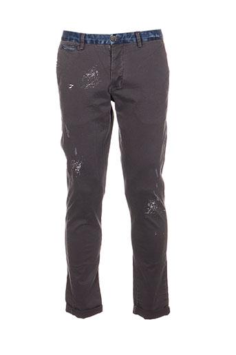 xagon man pantalons homme de couleur gris