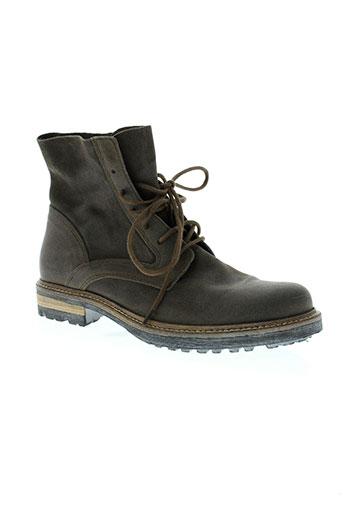 hexagone chaussures homme de couleur gris