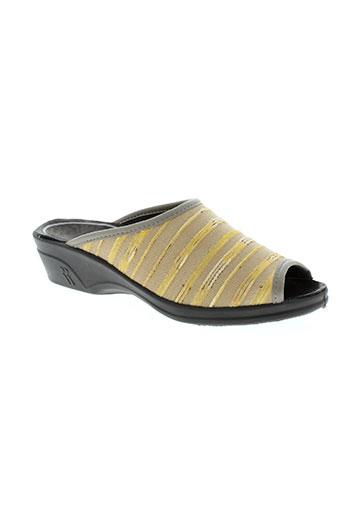 romika chaussures femme de couleur jaune