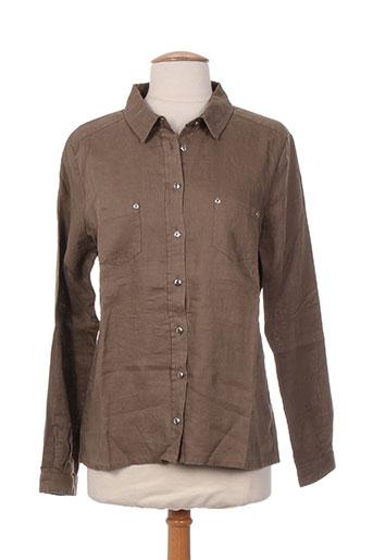 diplodocus chemises femme de couleur marron