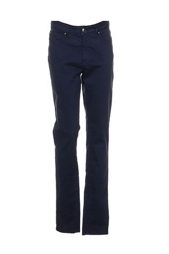 emma EFFI_CHAR_1 caro pantalons femme de couleur bleu