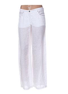 Pantalon casual blanc MALOKA pour femme
