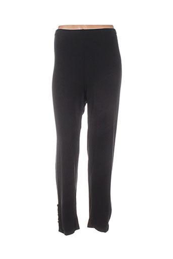 maloka pantalons femme de couleur noir