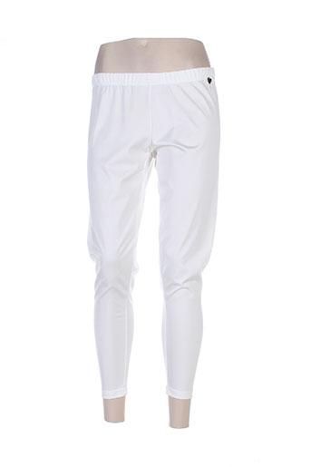 mat. pantalons femme de couleur blanc