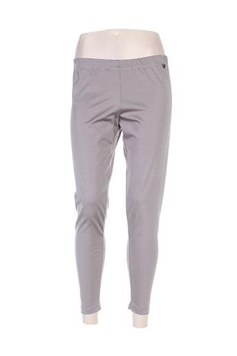 mat. pantalons femme de couleur gris