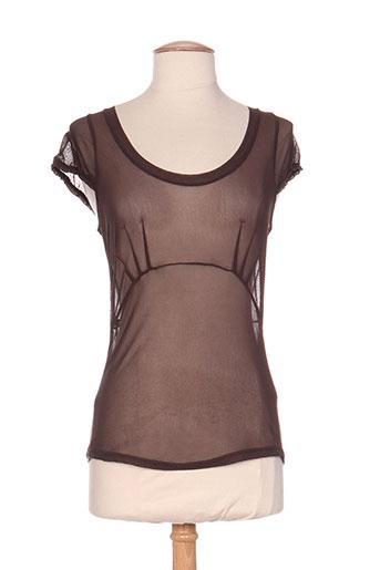 moloko t-shirts femme de couleur marron