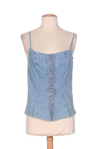 aqua chemises femme de couleur bleu
