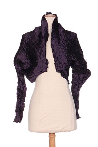 jolie mine vestes femme de couleur violet