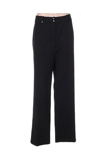 mitsouki pantalons femme de couleur noir