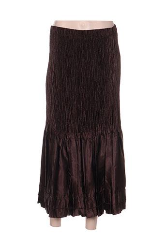 jolie mine jupes femme de couleur marron