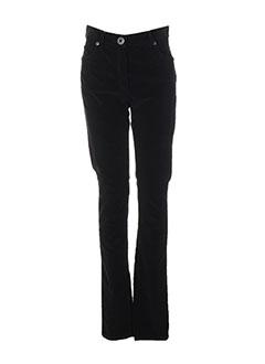 Pantalon casual noir PAUL BRIAL pour femme