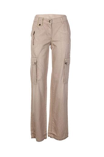 cheyenne pantalons femme de couleur beige
