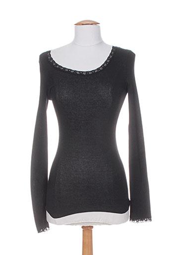 rivieres de lune t-shirts femme de couleur noir